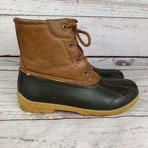 Sperry SCK261491 Lace Up Casual Rain Boots Size 5